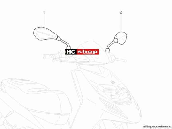 Piaggio Rückspiegel/n TPH 125