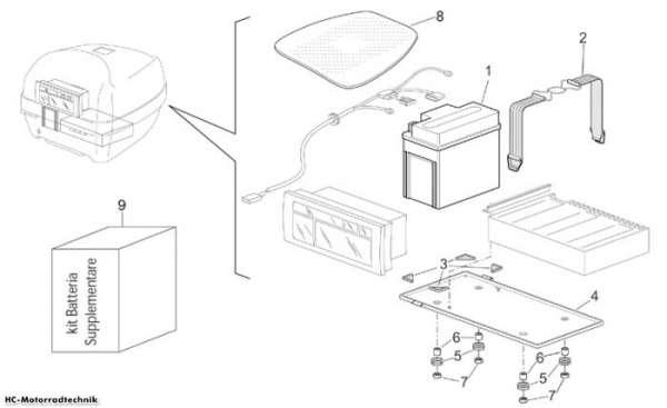 Aprilia Additional battery kit Pegaso IE 650