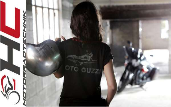"Moto Guzzi Damen T-Shirt ""Classic"" schwarz"