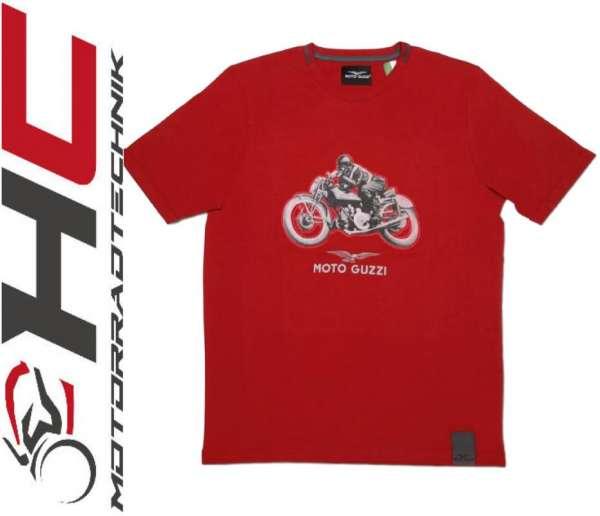 """Moto Guzzi Herren T-Shirt """"Garage"""" rot"""