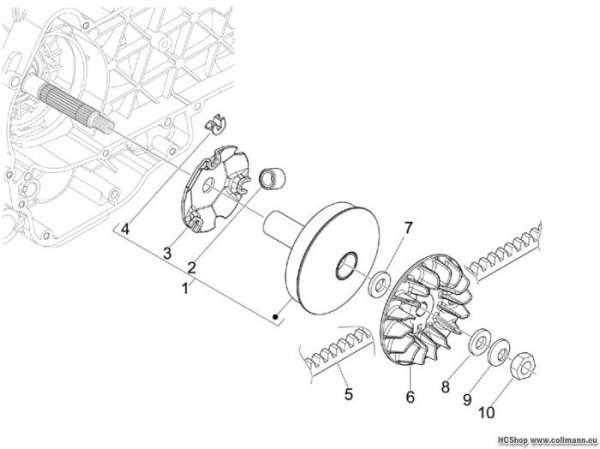 Aprilia Antriebsriemenscheibe SR MAX 125