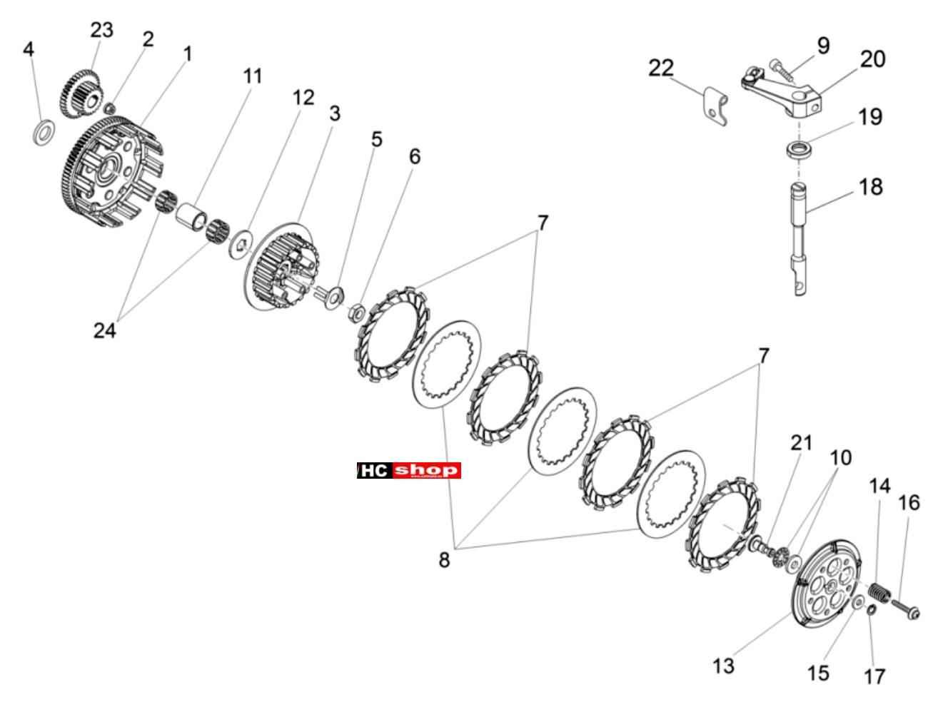 Aprilia Rx 50 Motor Kupplung Sx 125 Engine Diagrams Ersatzteile Hc Motorradtechnik