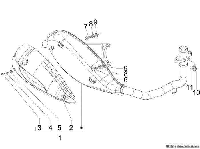 piaggio auspufftopf fly 125 4t fly 125 fly piaggio. Black Bedroom Furniture Sets. Home Design Ideas