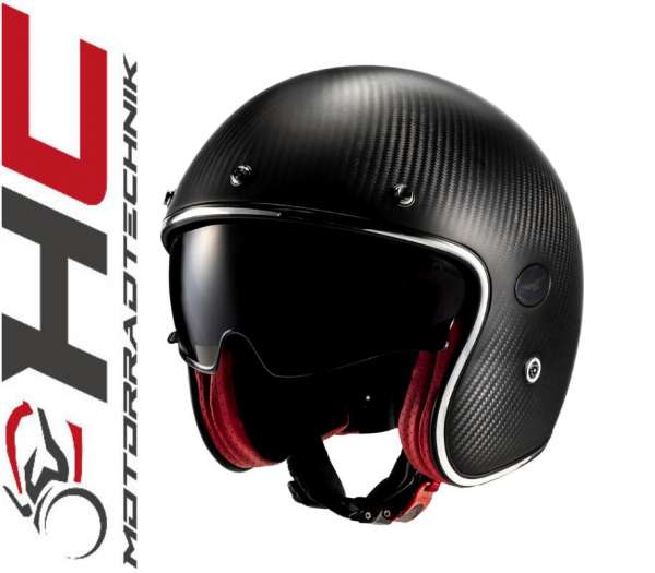 "Moto Guzzi Jet Helm ""Raw Carbon"""