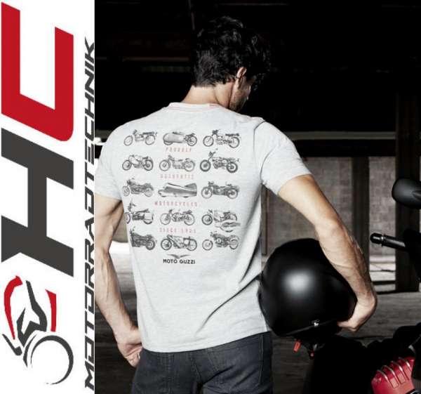 """Moto Guzzi Herren T-Shirt """"Garage"""" grau"""