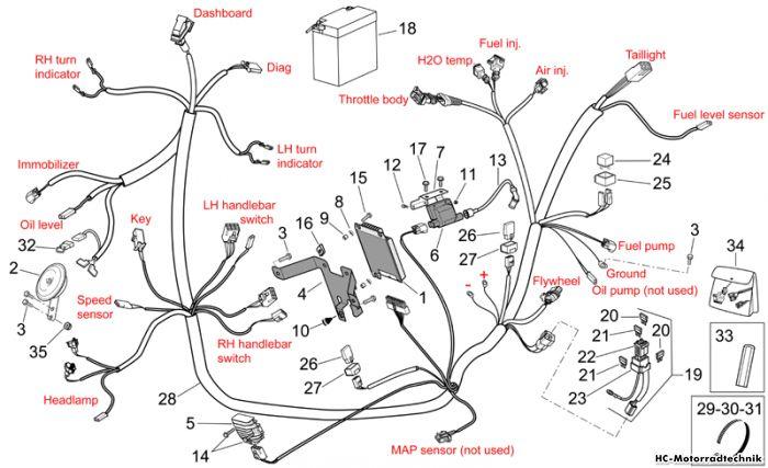 aprilia sr 50 r ie carb elektrische anlage i komplett. Black Bedroom Furniture Sets. Home Design Ideas