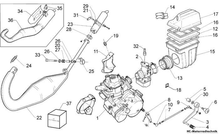 aprilia motor rs 125