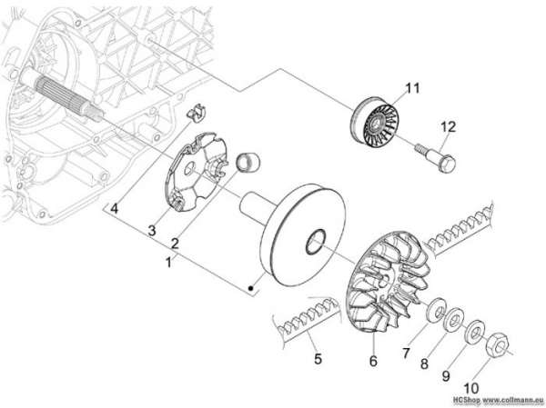 Aprilia Antriebsriemenscheibe SR MAX 300