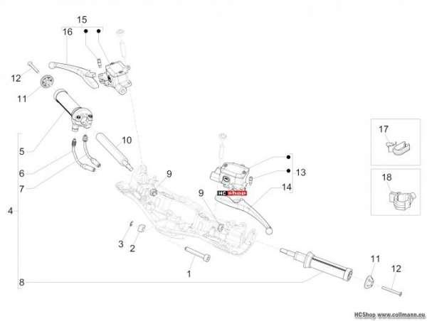 Vespa 946 Lenker - Hauptbremszylinder