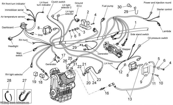moto guzzi elektrische anlage i griso 8v 1200